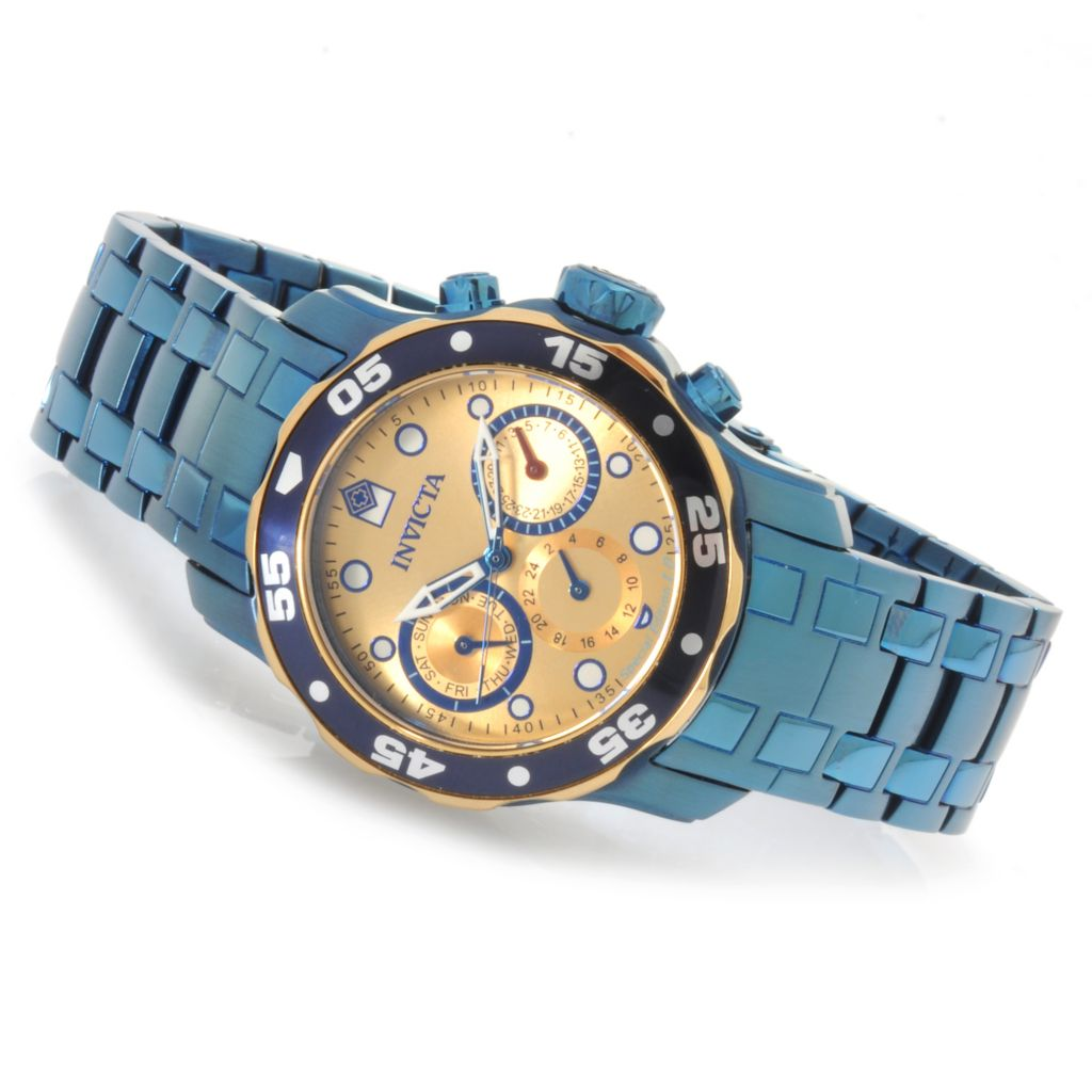 623-025 - Invicta Pro Diver Scuba Special Edition 1.0 Bracelet Watch w/ Eight-Slot Dive Case