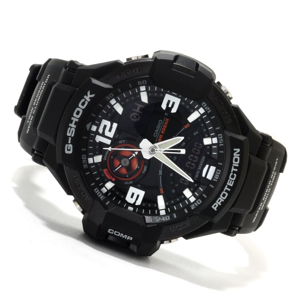 623-027 - Casio Men's G-Shock Aviation Quartz Chronograph Analog Digital Rubber Strap Watch