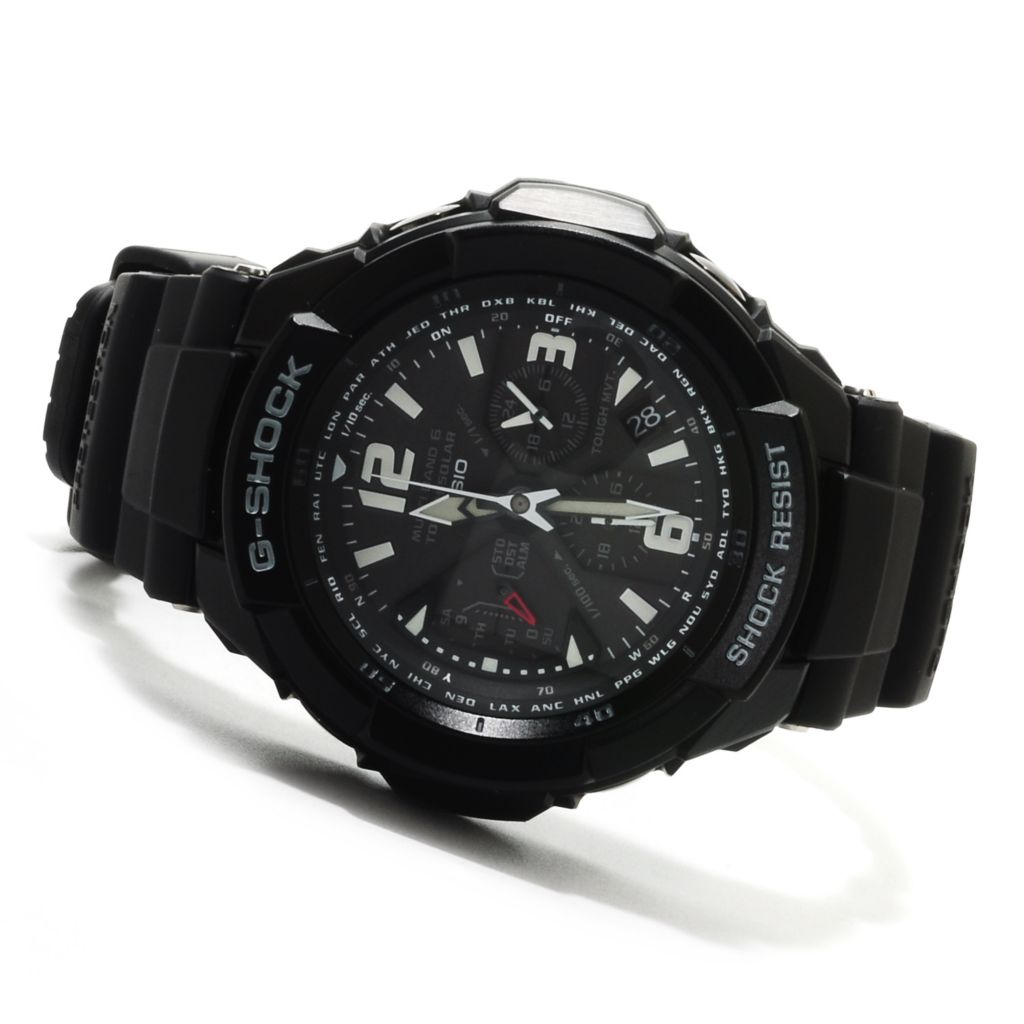 623-029 - Casio Men's G-Shock Aviation Solar Ana-Digi Quartz Chronograph Rubber Strap Watch