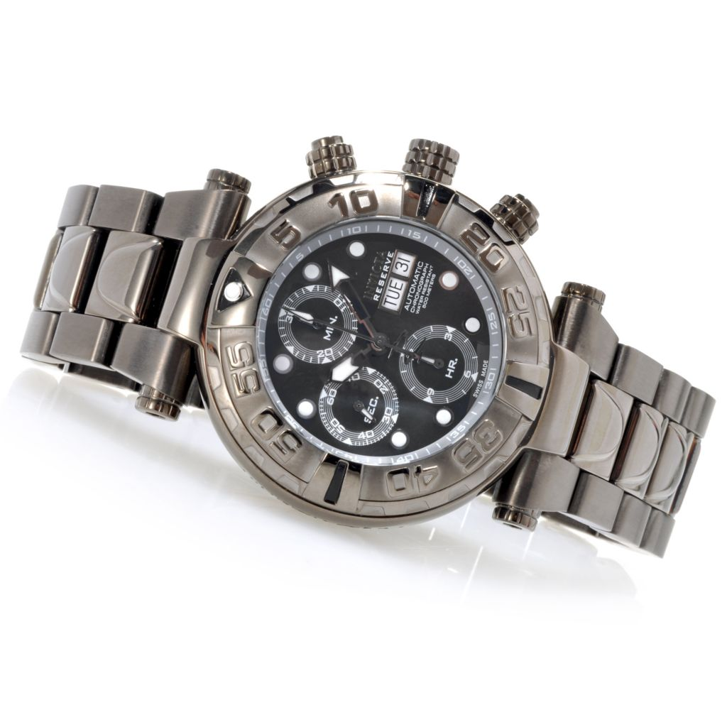 623-030 - Invicta Reserve Subaqua Noma I Limited Edition Valjoux 7750 Bracelet Watch w/Three-Slot Dive Case
