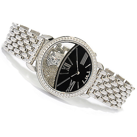 623-051 - Versace Women's Krios Swiss Made Quartz Stainless Steel Bracelet Watch