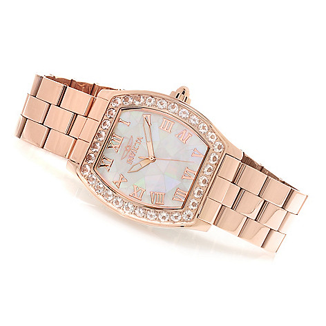 623-141 - Invicta Women's Angel Blush 2.91ctw Morganite Mosaic Mother-of-Pearl Bracelet Watch