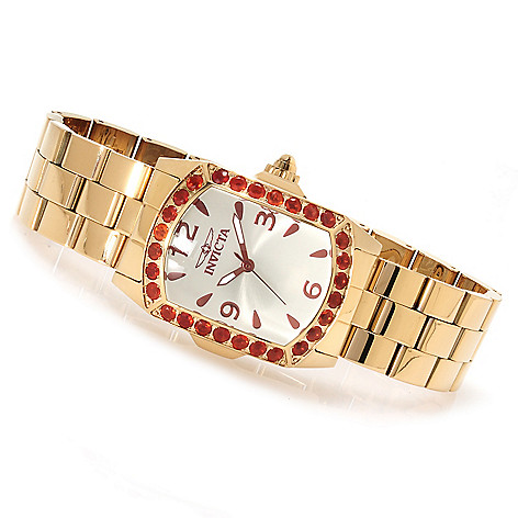 623-154 - Invicta Lady Lupah Quartz 2.13ctw Fire Opal Limited Edition Bracelet Watch