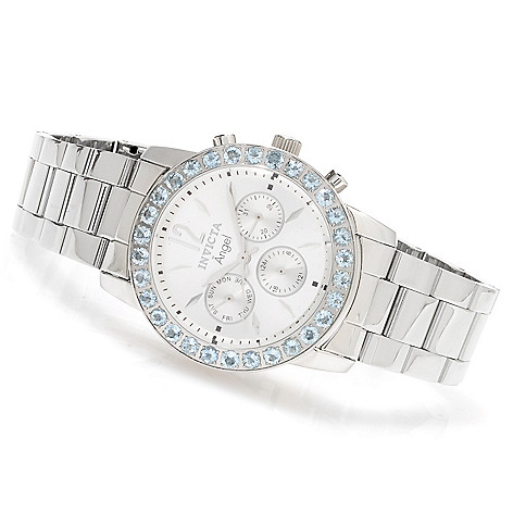 623-193 - Invicta Women's Angel Gemstone Limited Edition Quartz Multifunction Stainless Steel Bracelet Watch