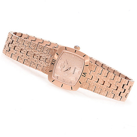 623-205 - Oniss Women's Duchess Petite Quartz Textured Stainless Steel Bracelet Watch