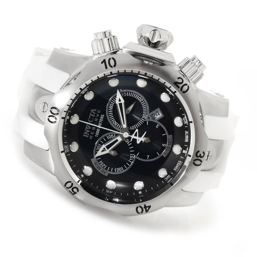 623-216 - Invicta Reserve Men's Venom Swiss Made Quartz Chronograph Polyurethane Strap Watch