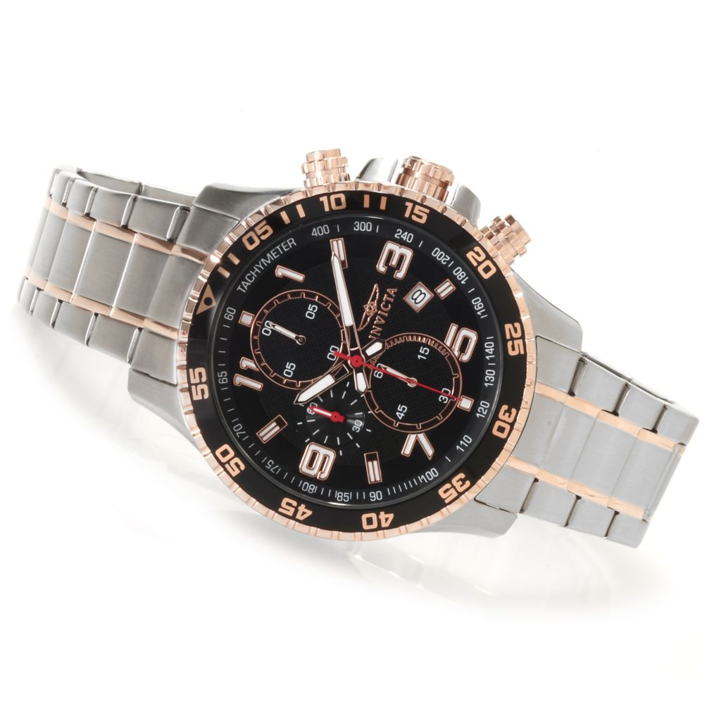623-217 - Invicta 45mm Specialty Quartz Chronograph Bracelet Watch w/ Eight-Slot Dive Case