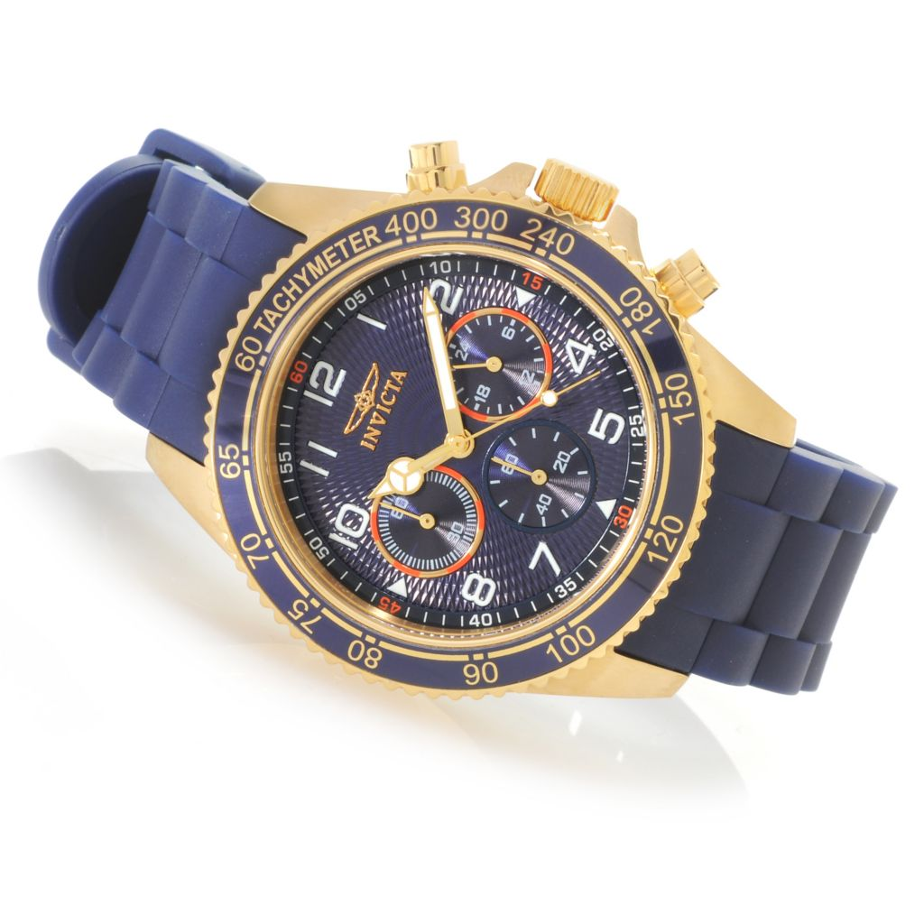 623-219 - Invicta Men's Pro Diver Specialty Quartz Chronograph Polyurethane Strap Watch w/ Travel Box