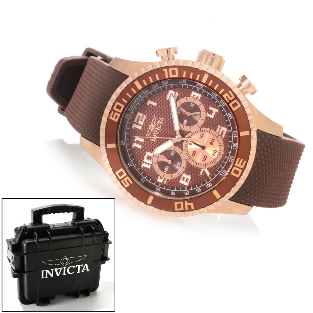 623-222 - Invicta 45mm Pro Diver Specialty Quartz Polyurethane Strap Watch w/ Three-Slot Dive Case