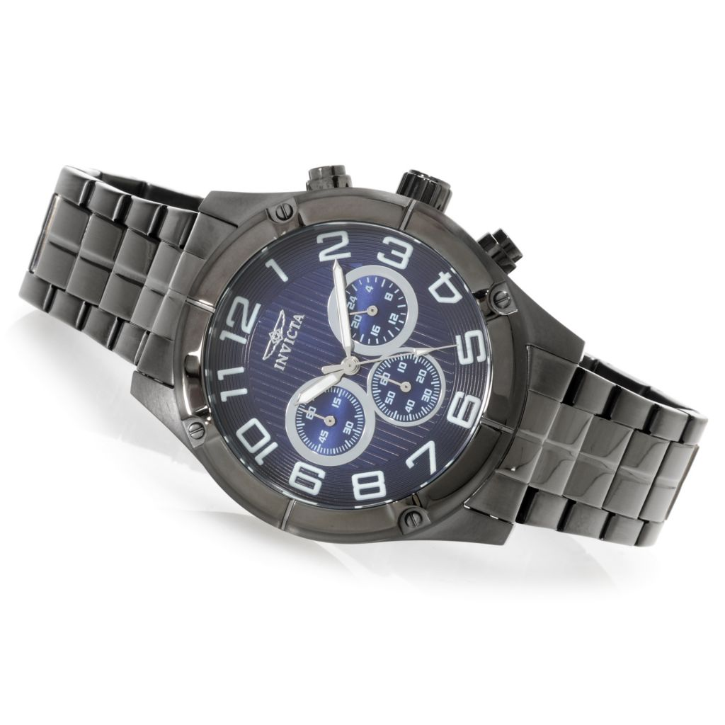 623-226 - Invicta 45mm Specialty Quartz Chronograph Bracelet Watch w/ Three-Slot Dive Case