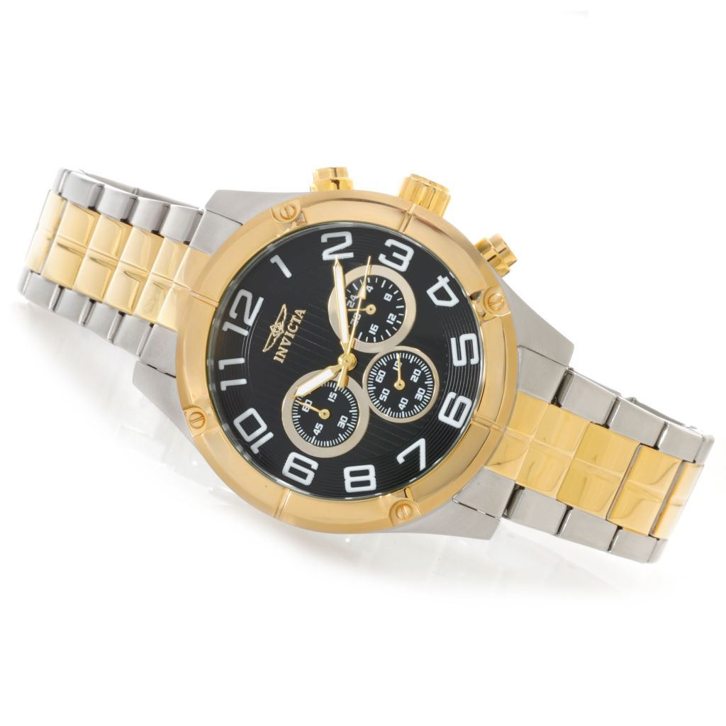 623-230 - Invicta 45mm Specialty Quartz Chronograph Bracelet Watch w/ Three-Slot Dive Case