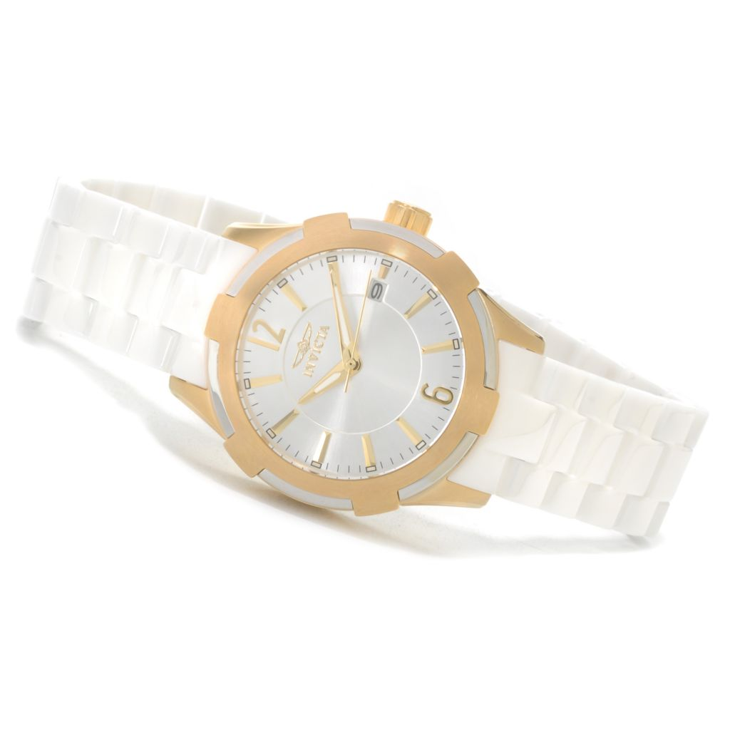 623-236 - Invicta Ceramics Women's Quartz Stainless Steel Bracelet Watch