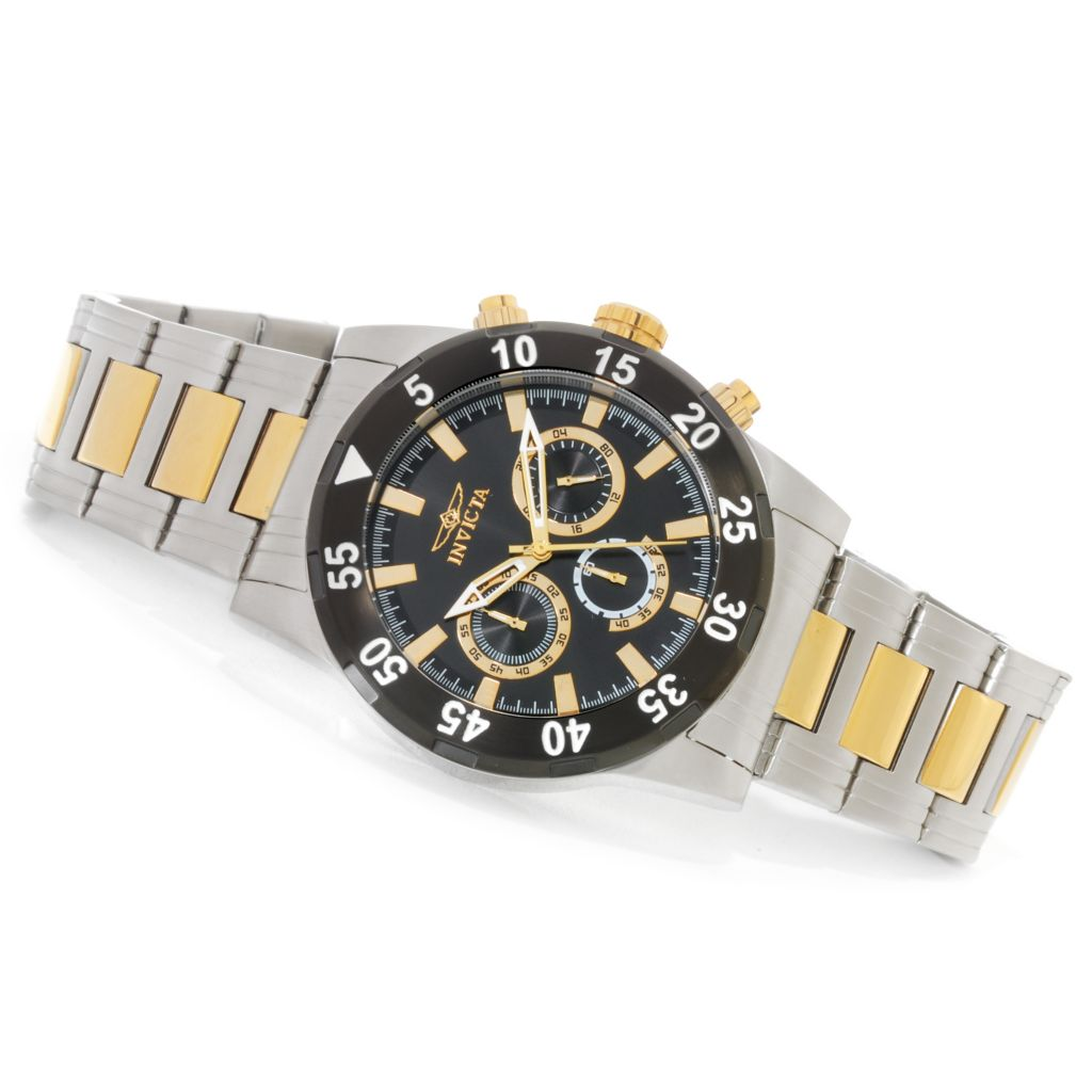 623-244 - Invicta 45mm Specialty Quartz Chronograph Bracelet Watch w/ Three-Slot Dive Case