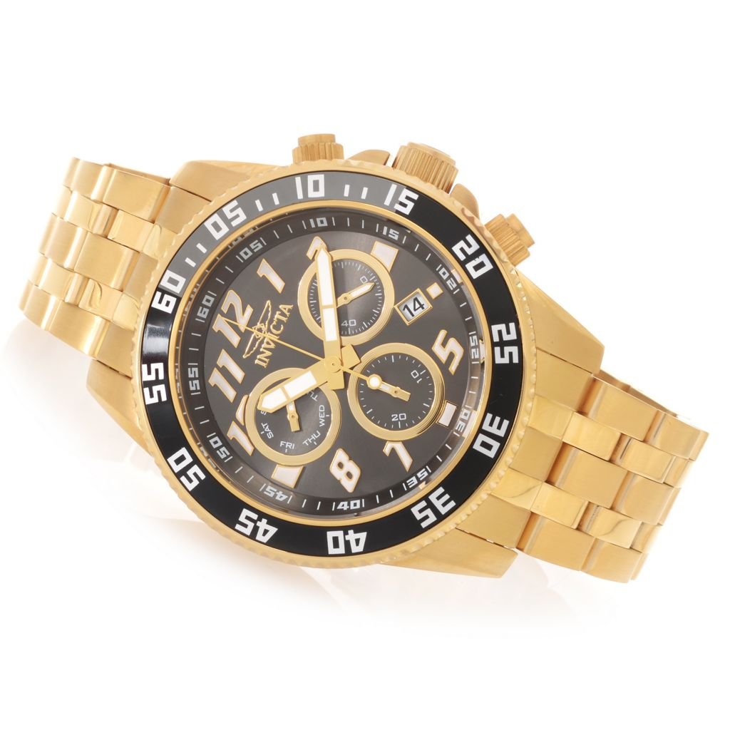 623-248 - Invicta 50mm Pro Diver Swiss Quartz Chronograph Stainless Steel Bracelet Watch