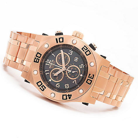 623-251 - Invicta Reserve 45mm Speedway Swiss Chronograph Mother-of-Pearl Stainless Steel Bracelet Watch