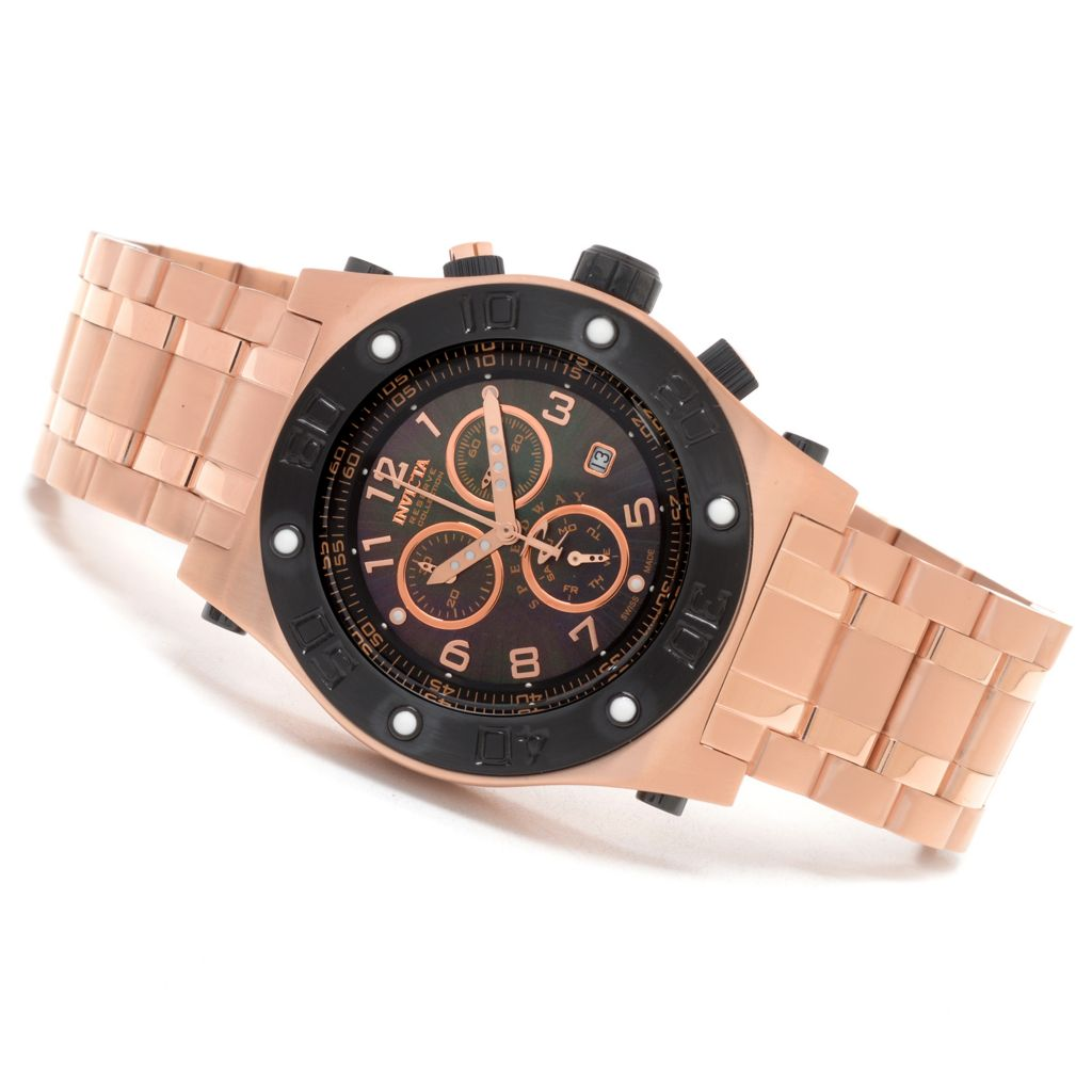 623-252 - Invicta Reserve 45mm Speedway Swiss Chronograph Mother-of-Pearl Stainless Steel Bracelet Watch