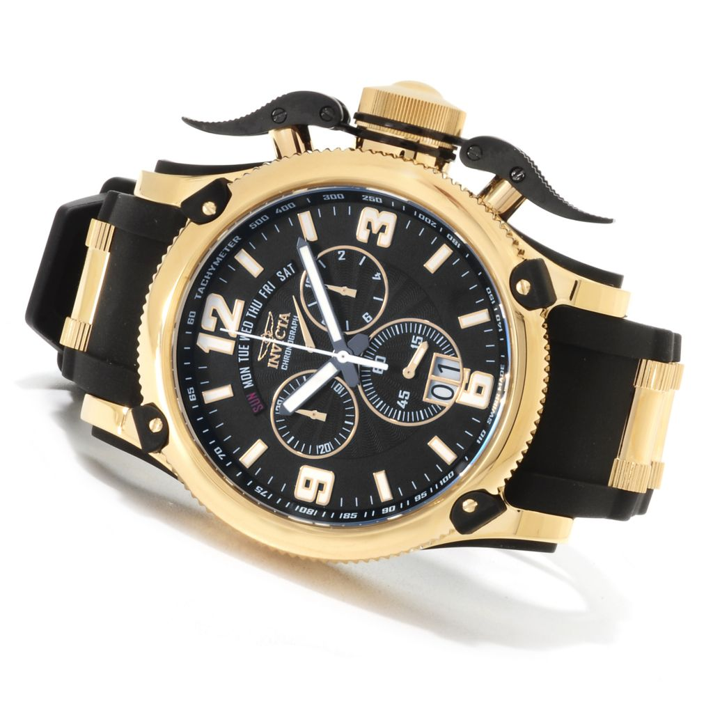 623-258 - Invicta Men's Off Shore Russian Diver Swiss Chronograph Polyurethane Strap Watch