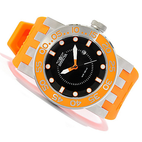 623-260 - Invicta Men's DNA Diver Quartz Stainless Steel Silicone Strap Watch w/Travel Box