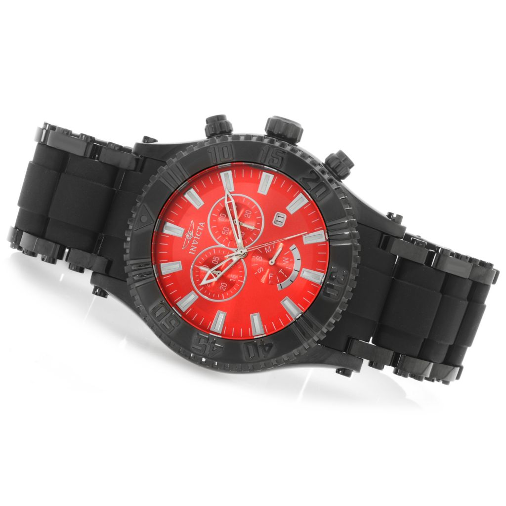 623-281 - Invicta 50mm Sea Spider Quartz Chronograph Stainless Steel Polyurethane Bracelet Watch