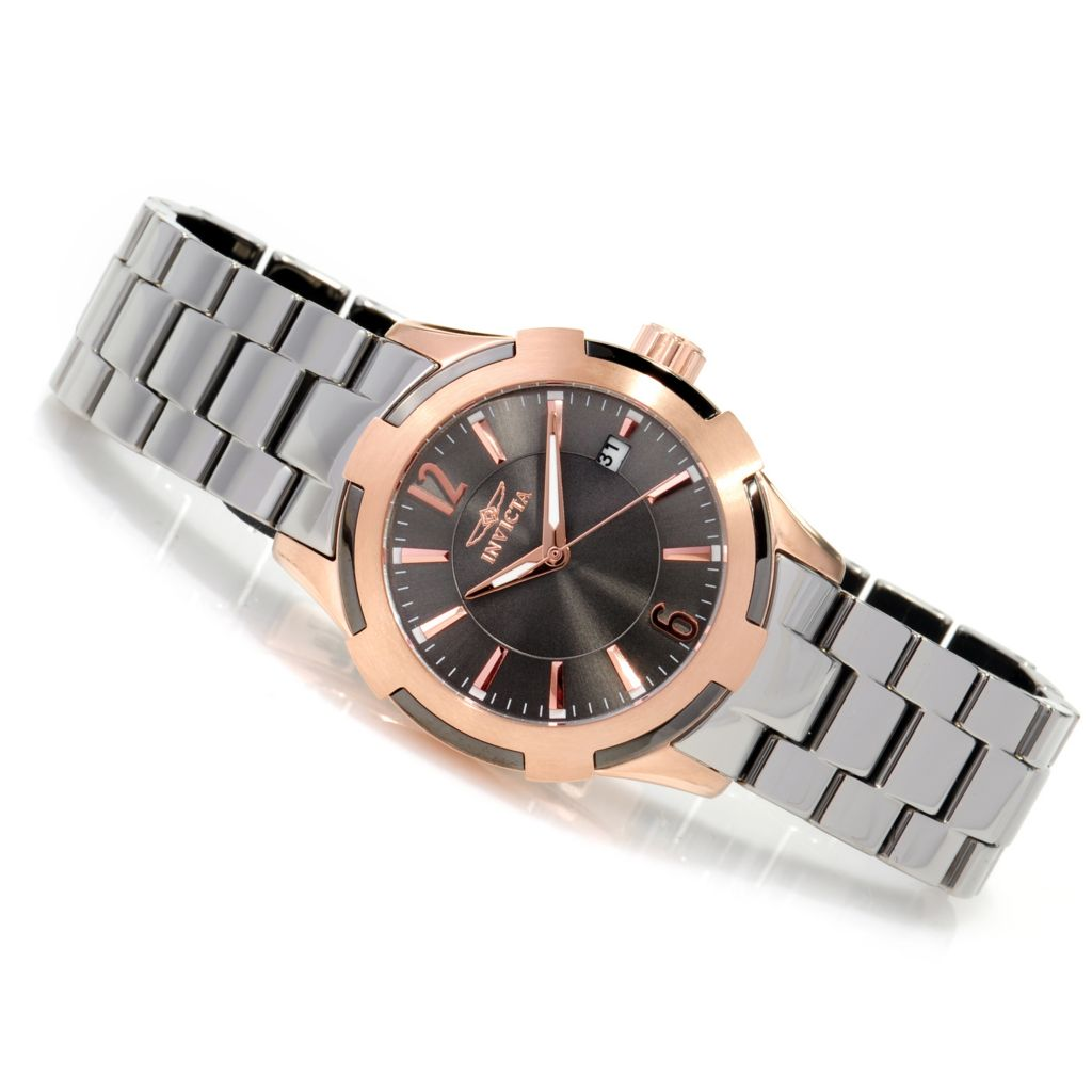623-284 - Invicta Ceramics Women's Quartz Stainless Steel Bracelet Watch