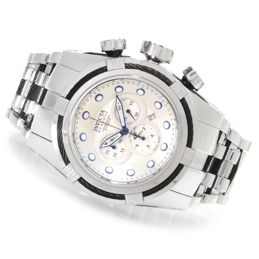 623-296 - Invicta Men's Reserve Bolt Zeus Swiss Made Quartz Chronograph Bracelet Watch