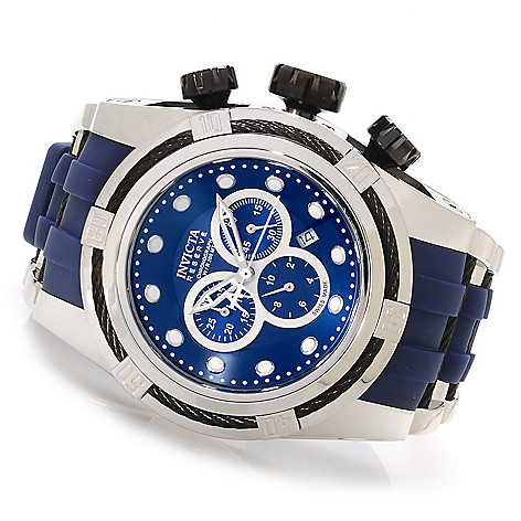 623-297 - Invicta Reserve 52mm Bolt Zeus Swiss Made Quartz Chronograph Polyurethane Strap Watch