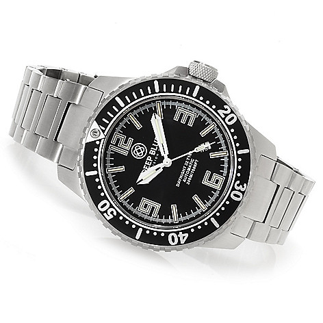 623-303 - Deep Blue Men's Daynight 32 T-100 Automatic Stainless Steel Bracelet Watch