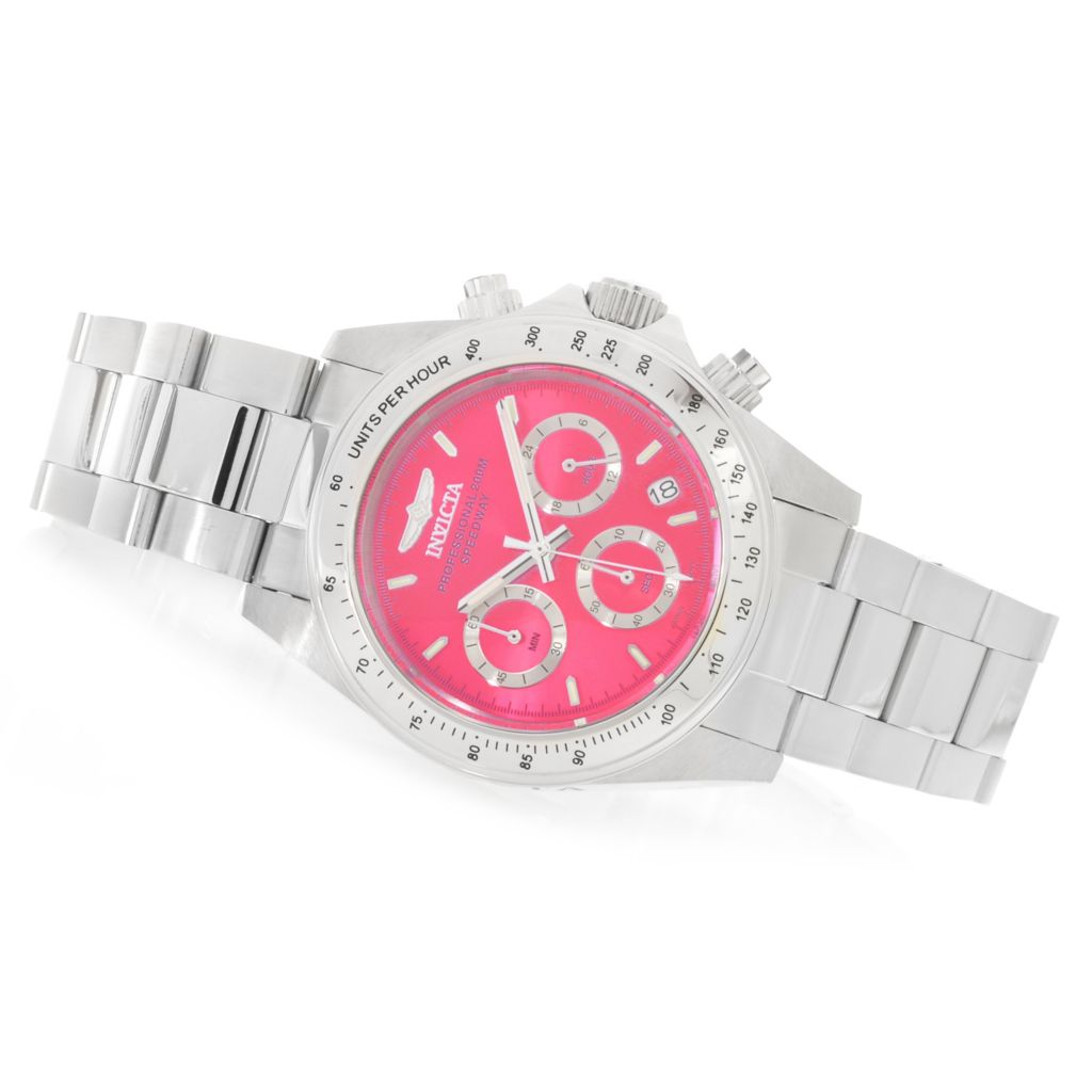 623-307 - Invicta Women's Speedway Quartz Chronograph Stainless Steel Bracelet Watch