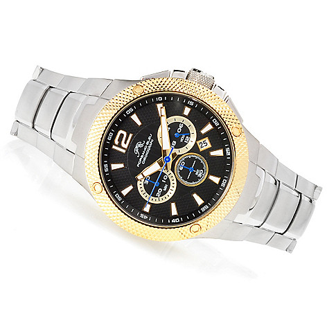 623-374 - Porsamo Bleu Men's ''The Pierre'' Quartz Chronograph Stainless Steel Bracelet Watch