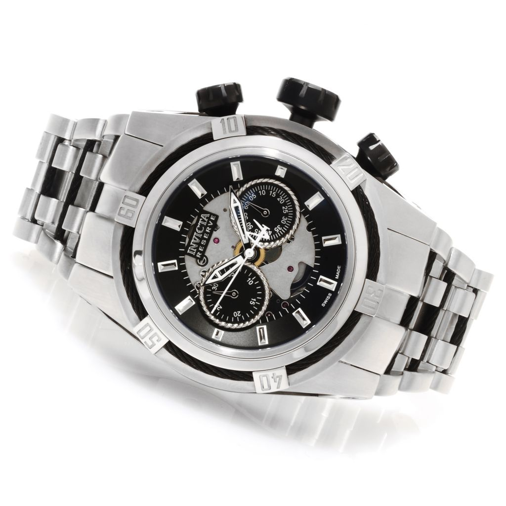 623-385 - Invicta Reserve Men's Bolt Zeus Swiss Made Dubois Depraz Automatic Bracelet Watch