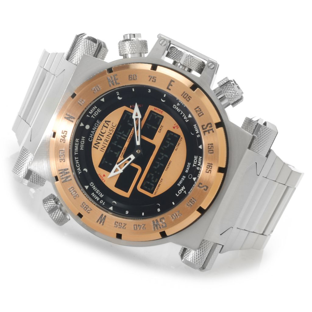 623-386 - Invicta Men's Coalition Forces Swiss Ana/Digi Stainless Steel Bracelet Watch