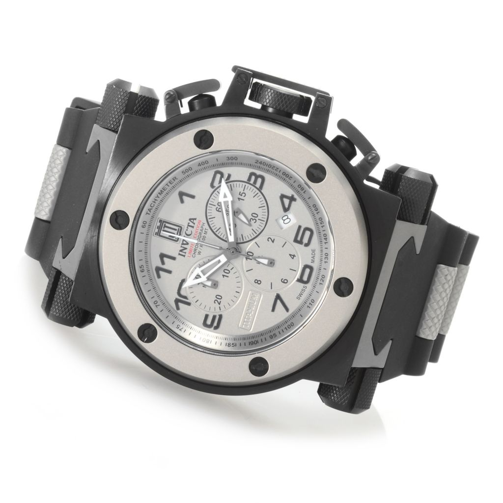 623-388 - Invicta 51mm Coalition Force Jason Taylor Swiss Chronograph Polyurethane Strap Watch