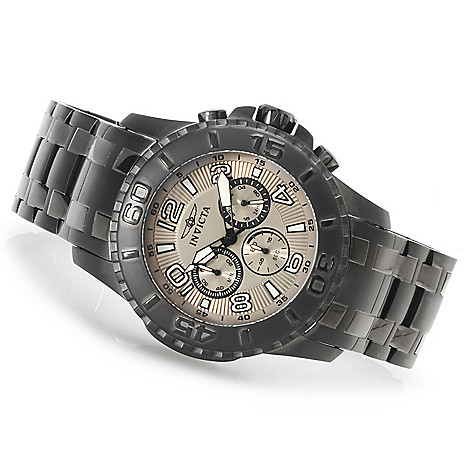 623-390 - Invicta 48mm Pro Diver Scuba II Quartz Chronograph Stainless Steel Bracelet Watch