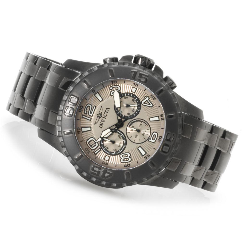 623-390 - Invicta 48mm Pro Diver Scuba II Quartz Chronograph Stainless Steel Bracelet Watch