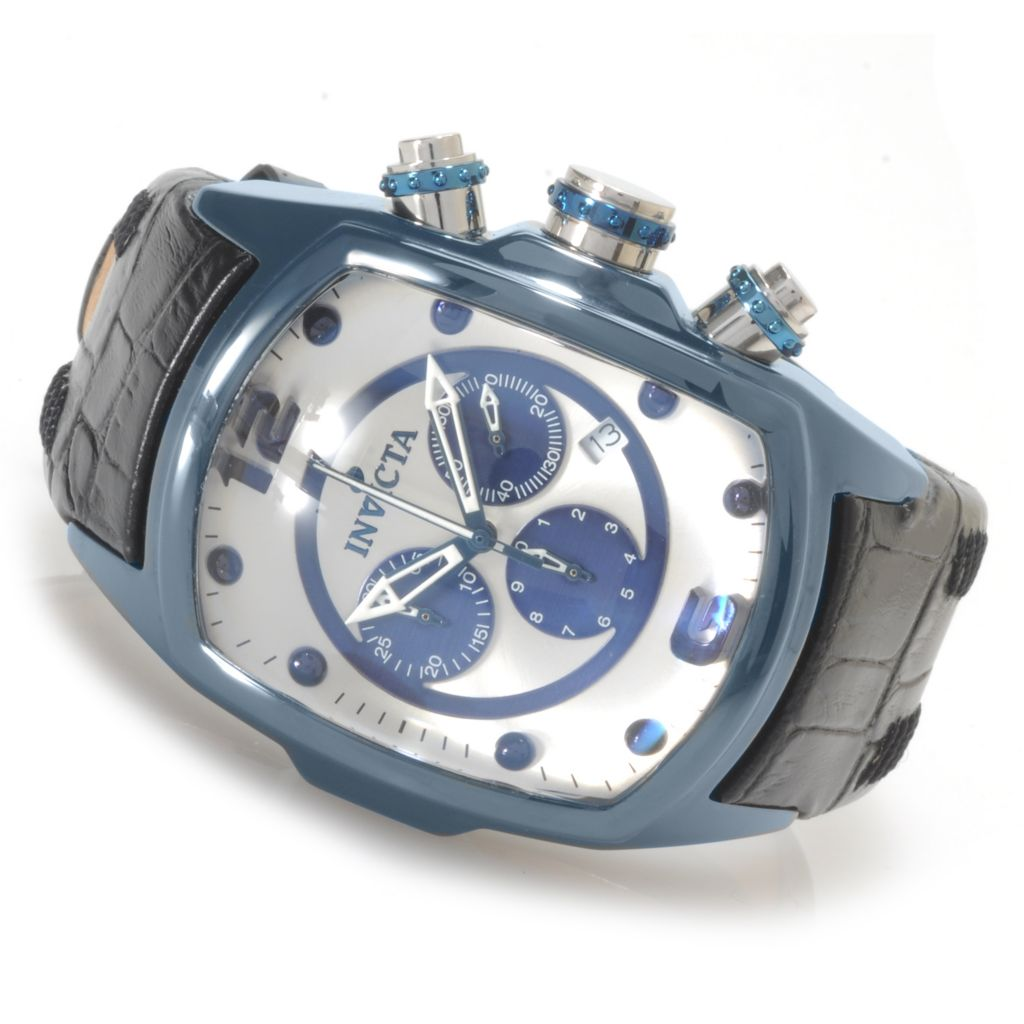 623-397 - Invicta Men's Lupah Revolution Quartz Chronograph Ceramic Case Leather Strap Watch