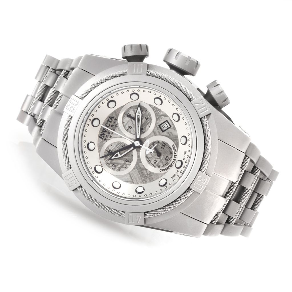623-401 - Invicta Reserve 52mm Bolt Zeus Swiss Made COSC Meteorite Dial Titanium Bracelet Watch