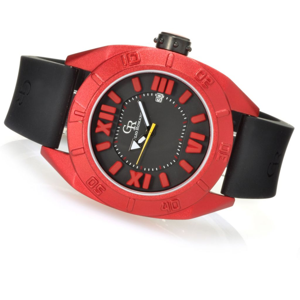 623-418 - Giulio Romano Men's Termoli Quartz Rubber Strap Watch