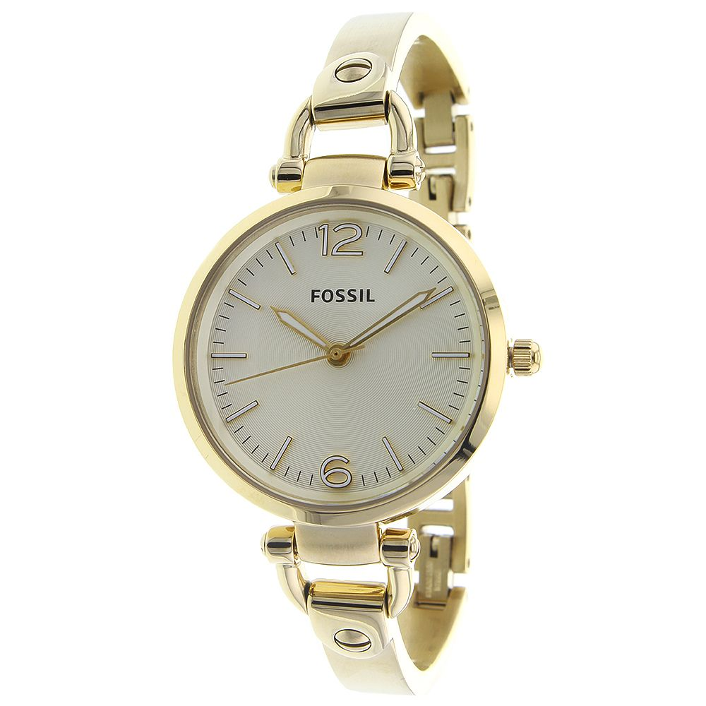623-436 - Fossil Women's Georgia Quartz Gold-tone Stainless Steel Bracelet Watch