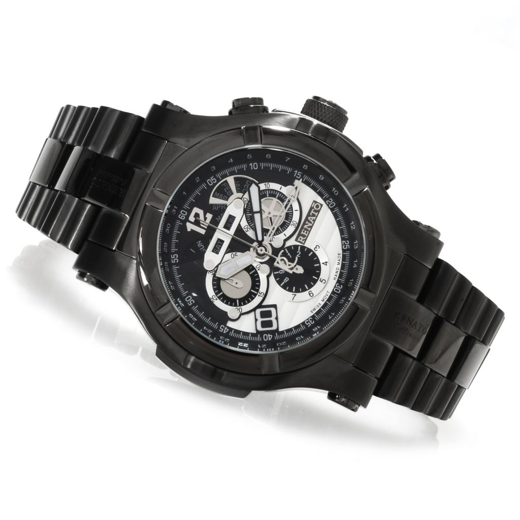 623-473 - Renato Men's T-Rex Gen II Quartz Chronograph Stainless Steel Bracelet Watch
