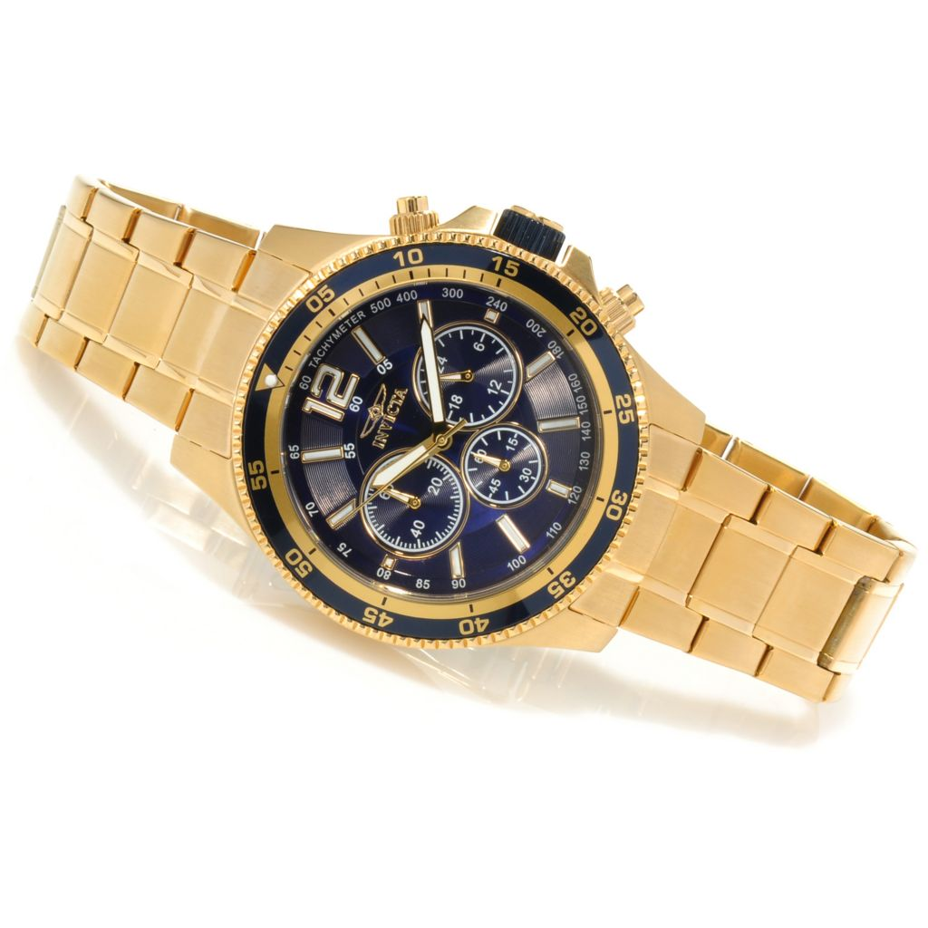 623-479 - Invicta 46mm Specialty Quartz Chronograph Bracelet Watch w/ Three-Slot Dive Case