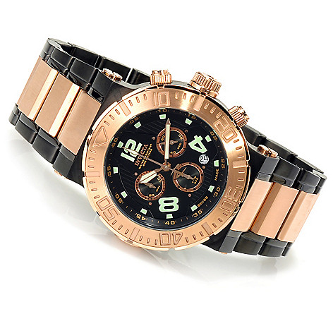 623-488 - Invicta Reserve Men's Ocean Reef Swiss Chronograph Bracelet Watch w/ Three-Slot Dive Case