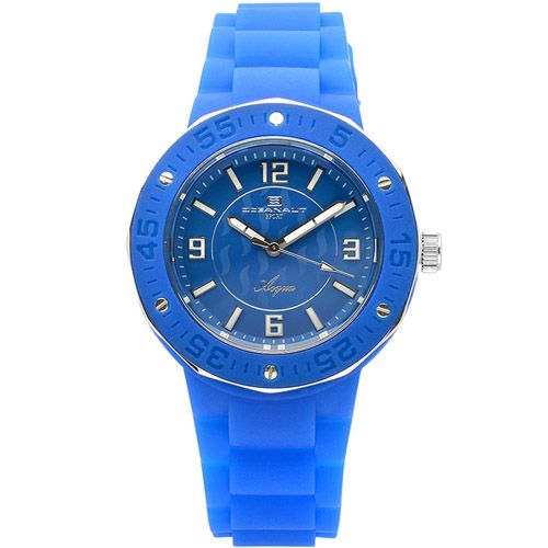 623-503 - Oceanaut Women's Quartz Blue Stainless Steel Rubber Strap Watch
