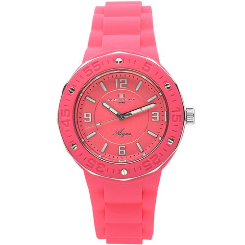 623-505 - Oceanaut Women's Acqua Quartz Pink Rubber Strap Watch