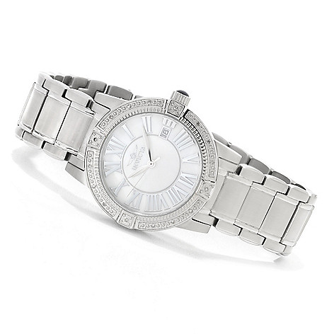 623-511 - Invicta Women's Angel Quartz Mother-of-Pearl Stainless Steel Bracelet Watch