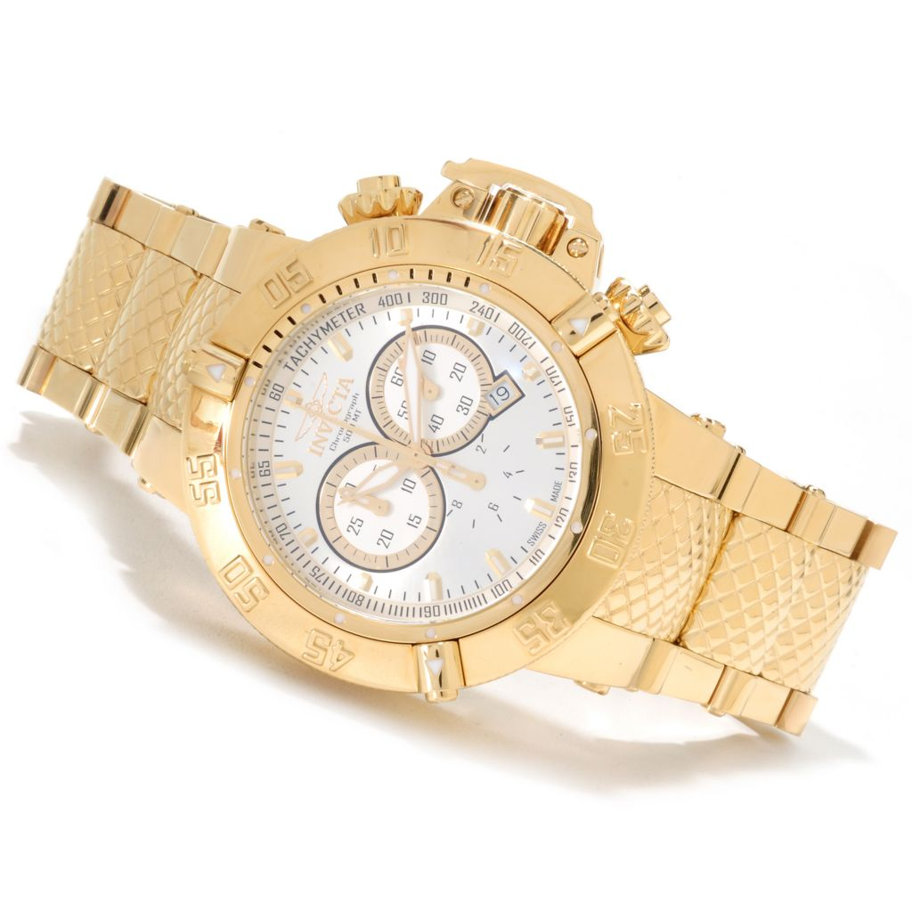623-512 - Invicta 50mm Subaqua Noma III Swiss Chronograph High Polish Bracelet Watch