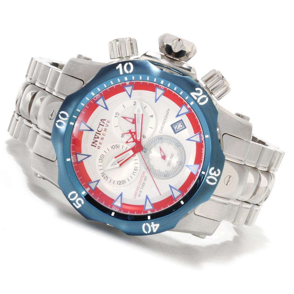 623-521 - Invicta Reserve 52mm Venom Limited Edition Swiss Chronograph Bracelet Watch