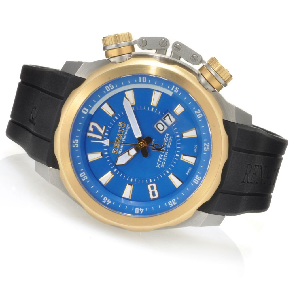 623-539 -  Renato Men's XTR Diver Limited Edition Swiss Made Quartz Strap Watch