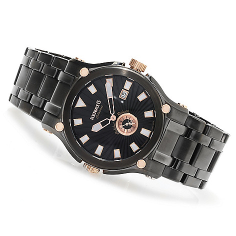 623-542 - Renato Men's Calibre Robusta Swiss Quartz Stainless Steel Bracelet Watch