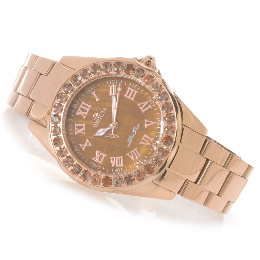 623-546 - Invicta Women's Angel Mini Limited Edition Tiger Eye Dial Bracelet Watch