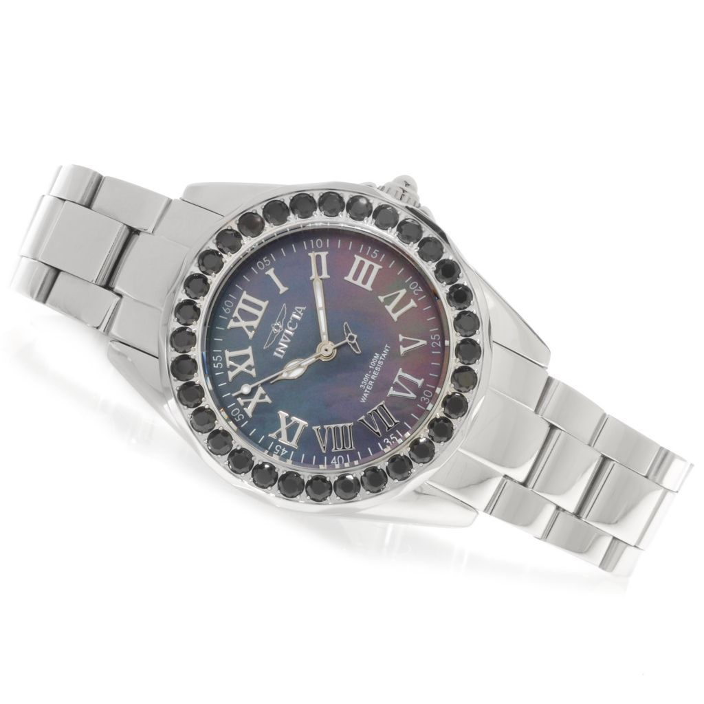 623-547 - Invicta Women's Angel Gems Quartz Limited Edition Mother-of-Pearl Bracelet Watch